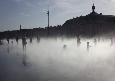 Brume du mirroir d'eau, Bordeaux