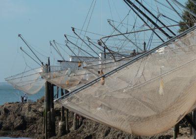 Filets de nos carrelets, estuaire de la Gironde