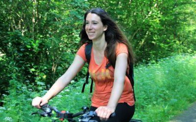 Balade à vélo sur la piste cyclable Roger Lapébie et visite du château Thieuley